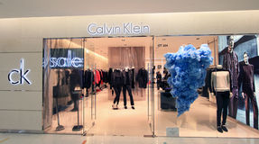Calvin Klein shop in hong kong Stock Images