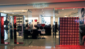 Calvin Klein underwear shop in Hong Kong Royalty Free Stock Image