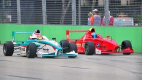 Calvin Wong racing Oscar Tunjo during Formula BMW Stock Image