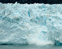 Calving Alaska glacier Royalty Free Stock Photography