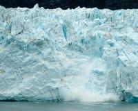 Calving Alaska glacier Royalty Free Stock Photography