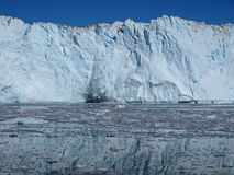 Calving glacier Eqi, Greenland. Situated  on Greenland west coast about 80km north of Ilulissat Stock Image