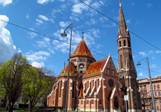Calvinist Church in Budapest royalty free stock photos