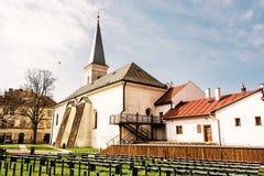 Calvinist church in Kosice, Slovakia, yellow filter Royalty Free Stock Photo