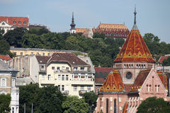 Calvinist Church and old buildings in Budapest Royalty Free Stock Photo