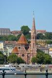 Calvinistische kerk in Buda disdrict van Boedapest - Hongarije royalty-vrije stock afbeeldingen