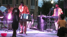 Calypso Music am Freitag Abend stock video footage
