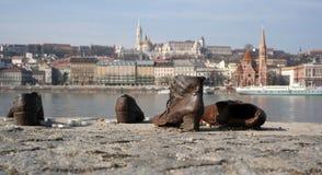 Calza el banco conmemorativo de Danubio Imagen de archivo libre de regalías