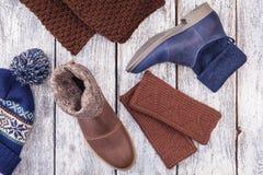 Calza invierno de la mujer Foto de archivo libre de regalías