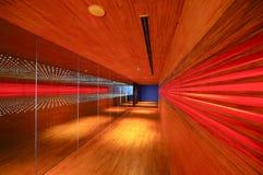 Calzada abstracta de madera de la iluminación imagen de archivo libre de regalías