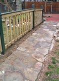 Calzada al patio Foto de archivo