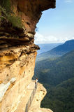Calzada azul de las montañas Fotos de archivo libres de regalías