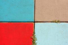 Calzada colorida del bloque Imágenes de archivo libres de regalías
