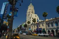 Calzada de la calle de la fama en Hollywood Boluvedard 7 de julio de 2017 fotos de archivo libres de regalías