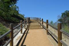 Calzada de la escalera de la ladera Imagen de archivo libre de regalías