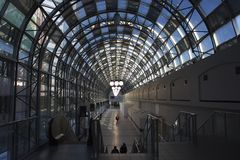 Calzada de la estación de tren Fotos de archivo