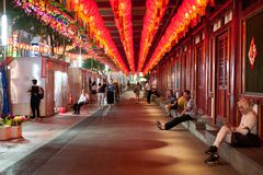 Calzada de la linterna de Chinatown Fotos de archivo