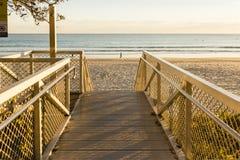 Calzada de la playa Imagen de archivo libre de regalías