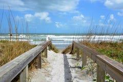 Calzada de la playa Fotos de archivo libres de regalías
