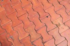 Calzada de los ladrillos del piso Foto de archivo libre de regalías