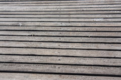 Calzada de madera en la playa Imagen de archivo