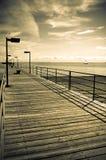 Calzada de Michigan de la playa del puerto Imagen de archivo libre de regalías