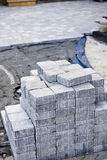 Calzada de piedra que se enclavija Foto de archivo libre de regalías