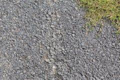 Calzada de piedra y menos fondo de la hierba Imagenes de archivo