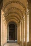 Calzada del museo de la lumbrera - Francia - París Imagen de archivo