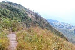 Calzada del paso en la montaña Imagen de archivo libre de regalías