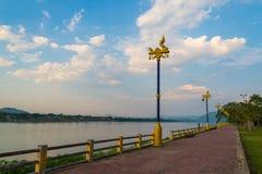 Calzada el río Mekong Imagen de archivo
