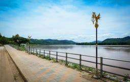 Calzada el río Mekong Fotografía de archivo libre de regalías