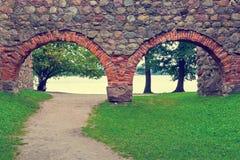 Calzada en el castillo viejo Fotografía de archivo