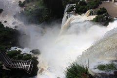 Calzada en Iguazu Falls en la Argentina Imagenes de archivo
