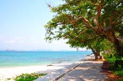 Calzada en la playa Imagen de archivo libre de regalías