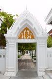 Calzada en templo tailandés Fotografía de archivo