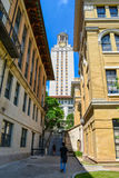 Calzada a la torre de UT en la Universidad de Texas Fotografía de archivo libre de regalías