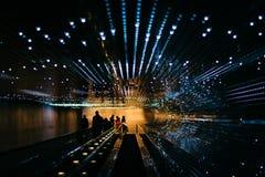 Calzada móvil subterráneo en el National Gallery del arte, en Wa fotografía de archivo