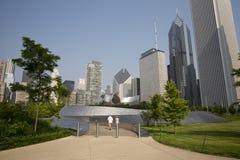 Calzada pública de BP en el parque del milenio, Chicago, IL, los E.E.U.U. fotografía de archivo libre de regalías