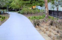 Calzada pavimentada del parque Fotos de archivo libres de regalías