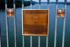 Calzada sobre el Hudson Foto de archivo