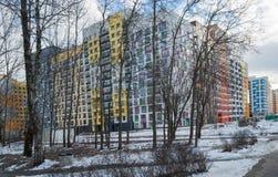 Calzada tropical de la línea de costa Micro-ciudad y x22; En el Woods& x22; Moscú, Rusia Fotografía de archivo libre de regalías