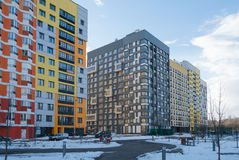Calzada tropical de la línea de costa Micro-ciudad y x22; En el Woods& x22; Moscú, Rusia Foto de archivo libre de regalías