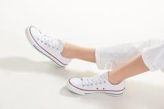 Calzado casual para las mujeres Foto de archivo libre de regalías