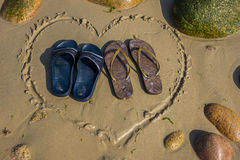 Calzado de la forma del corazón Fotografía de archivo
