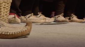 Calzado tradicional de los campesinos metrajes