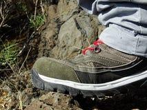 Calzature di trekking Immagine Stock
