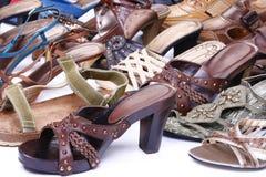 Calzature femminili Fotografia Stock Libera da Diritti
