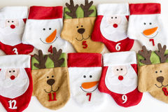 Calze di Natale per i regali Immagine Stock Libera da Diritti