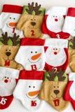 Calze di Natale per i regali Fotografie Stock Libere da Diritti